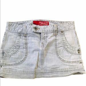 Guess Grey Jean Skirt